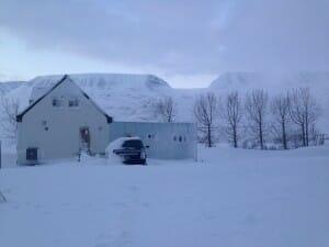 IJsland sneeuwlandschap
