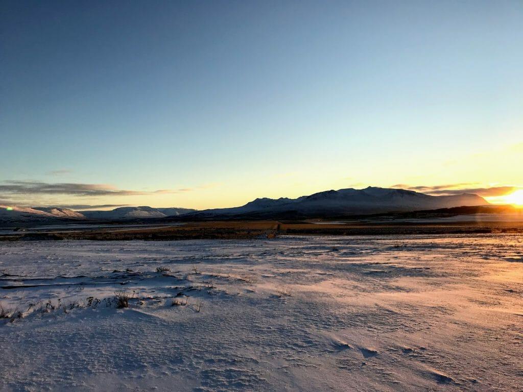 winterlandschap ijsland